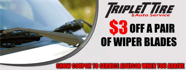 $3 OFF A PAIR OF WIPER BLADES