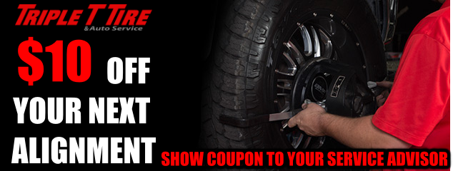 $10 OFF YOUR NEXT ALIGNMENT